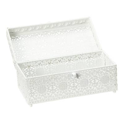 Deko-Box aus Metall, ca. 17x9x8cm