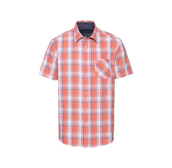 Herren-Seersucker-Hemd in Sommerfarben