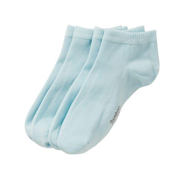 Damen-Sneaker-Socken mit Bambuszellulose, 2er Pack