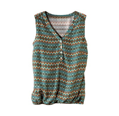Damen-Bluse mit modischer Knopfleiste