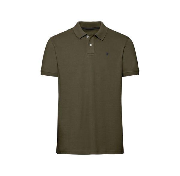 Herren-Poloshirt mit kleiner Stickerei