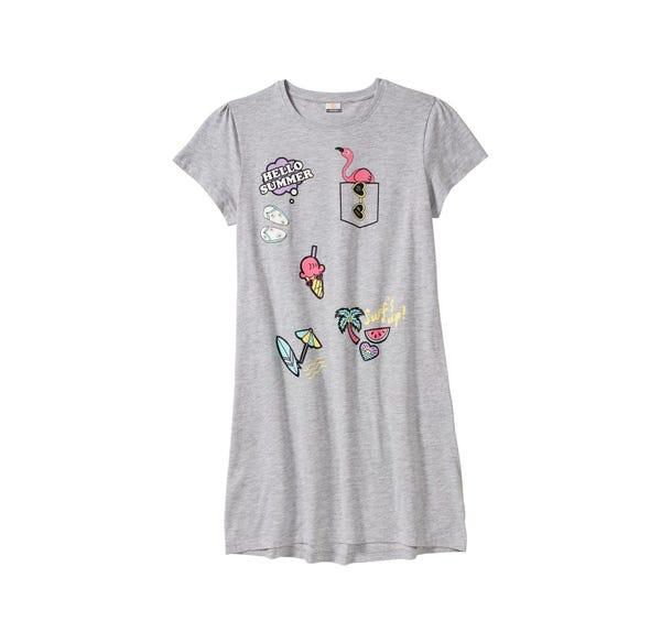 Mädchen-Nachthemd mit Ferien-Motiven