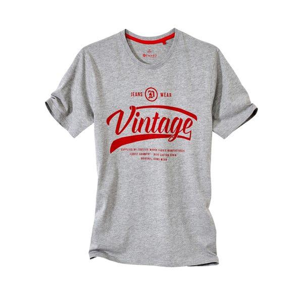 Herren-T-Shirt in moderner Melange-Optik