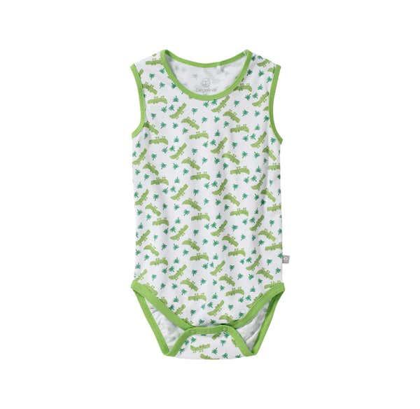 Baby-Jungen-Body mit Krokodil-Muster
