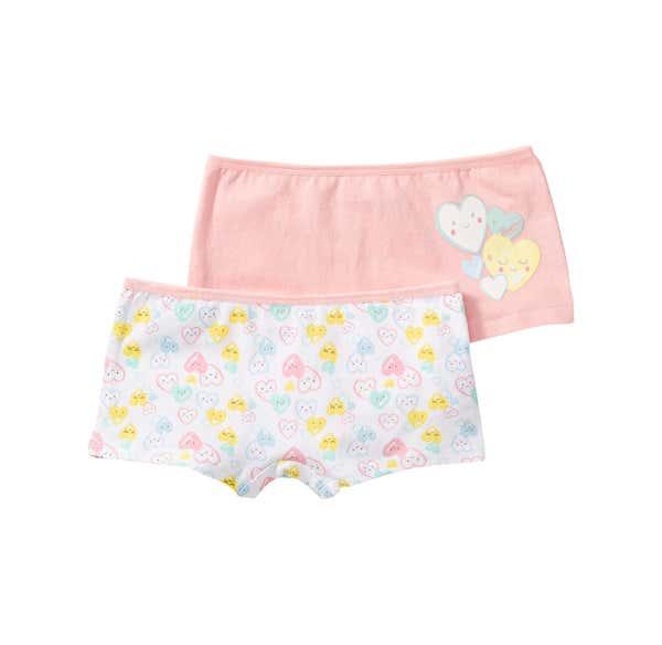 Mädchen-Panty mit Herzmuster, 2er Pack