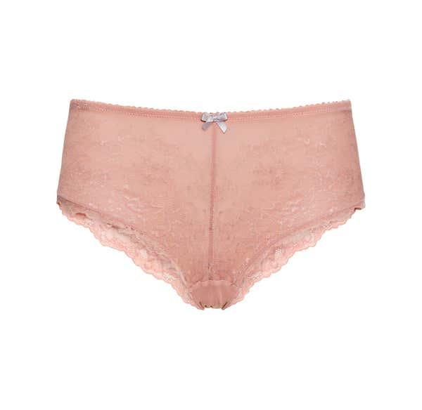 Damen-Panty aus zweifarbiger Spitze
