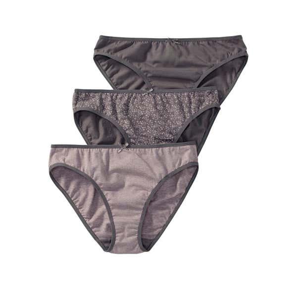 Damen-Minislip mit Satin-Zierschleife, 3er Pack