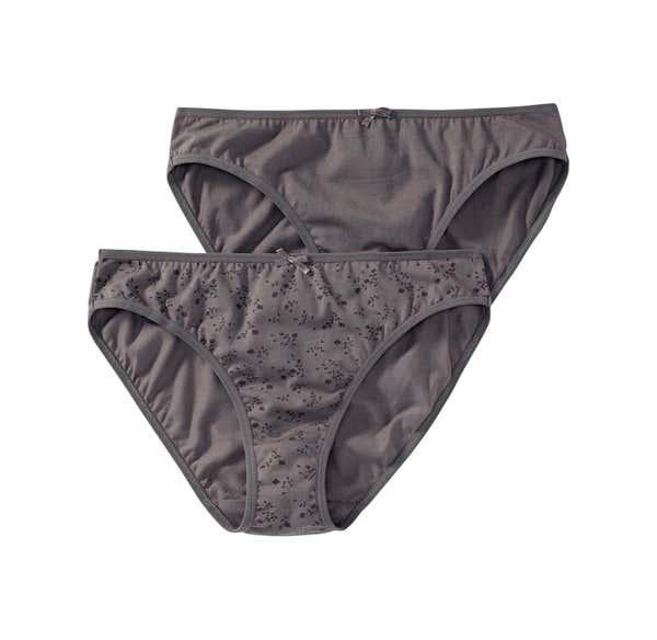 Damen-Minislip mit Zierschleife, 2er Pack