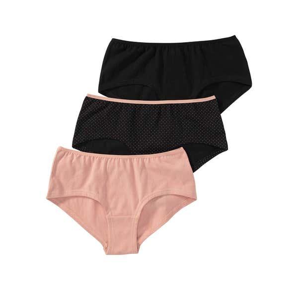 Damen-Panty mit Tupfen-Muster, 3er Pack