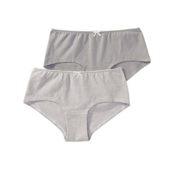 Damen-Panty mit Picot-Rand, 2er Pack