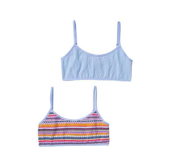 Mädchen-Bustier mit hübschem Streifenmuster, 2er Pack