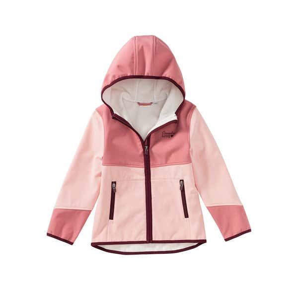 Mädchen-Softshell-Jacke mit Kapuze