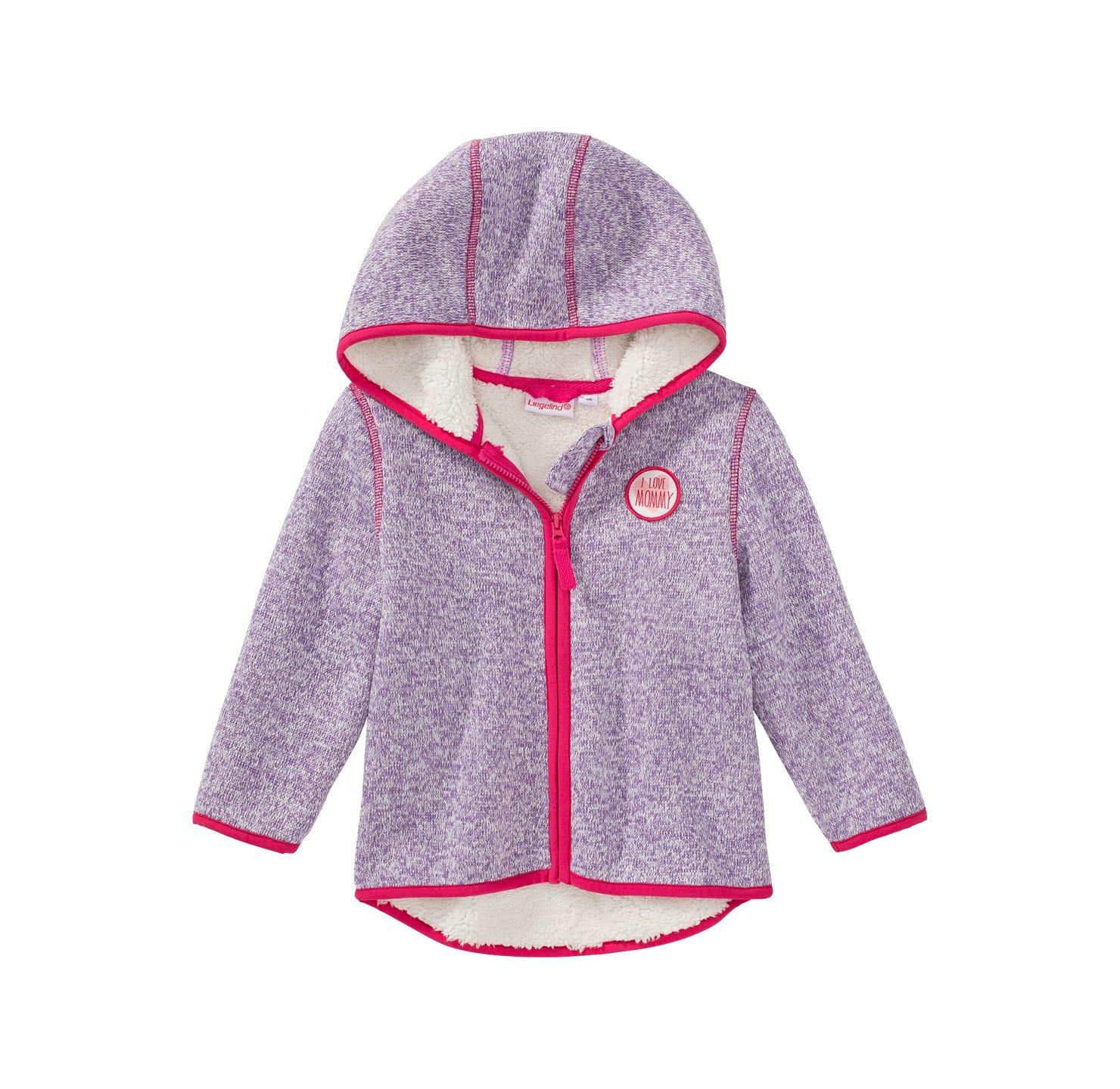 Baby Mädchen Strickfleece Jacke mit Teddy Futter | NKD