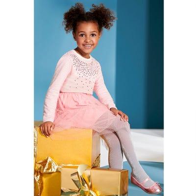Mädchen-Feinstrumpfhose mit Glitzerfasern