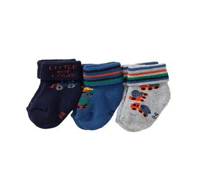 Baby-Jungen-Frottierflausch-Socken, 3er Pack