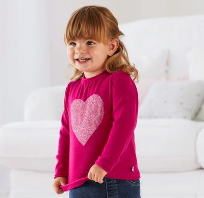 Baby-Mädchen-Pullover aus reiner Baumwolle
