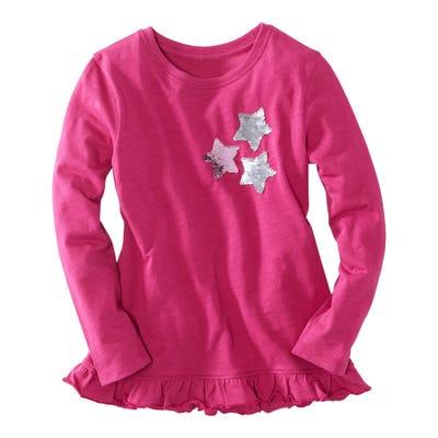 Mädchen-Shirt mit angesagten Wendepailletten