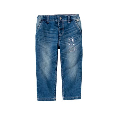Baby-Mädchen-Thermojeans