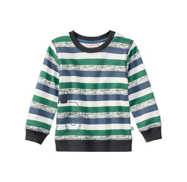 Baby-Jungen-Sweatshirt mit Streifenmuster