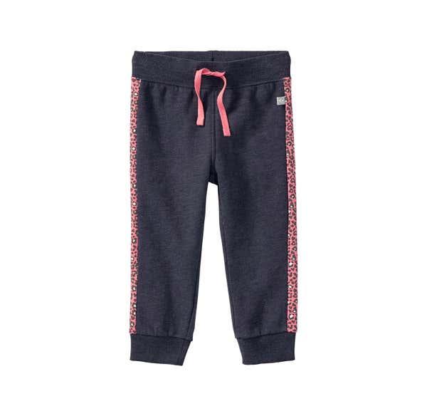 Baby-Mädchen-Jogginghose mit Kontrast-Streifen