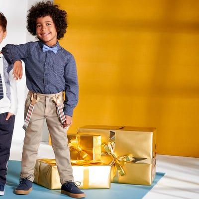 Jungen-Hose mit abknöpfbaren Hosenträgern