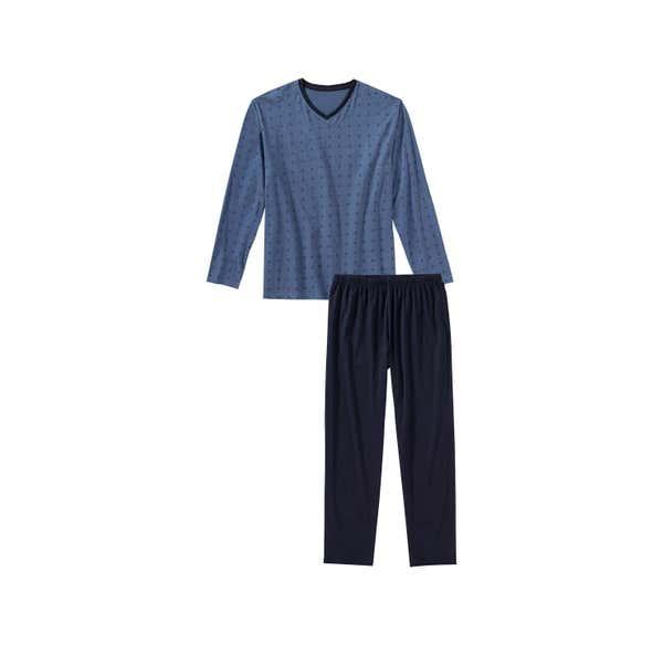 Herren-Schlafanzug mit trendigem Muster, 2-teilig