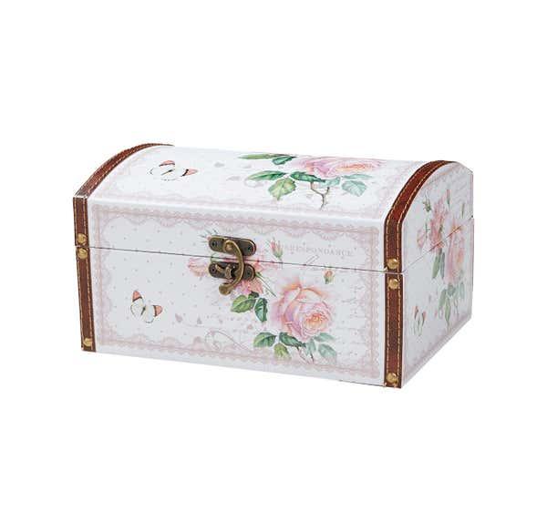 Deko-Box mit Rosendesign, verschiedene Größen