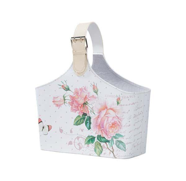 Deko-Korb mit Rosendesign, verschiedene Größen