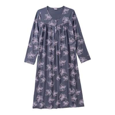 Damen-Nachthemd mit Blütenmuster
