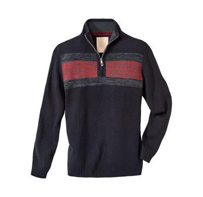 Herren-Pullover mit tollem Reißverschluss