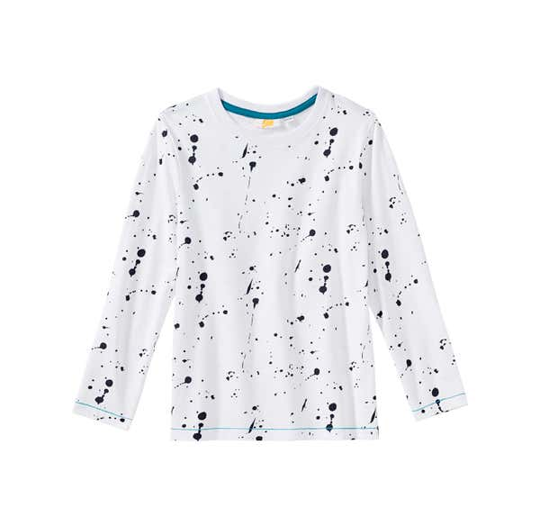 Jungen-Shirt mit Farbspritzer-Muster