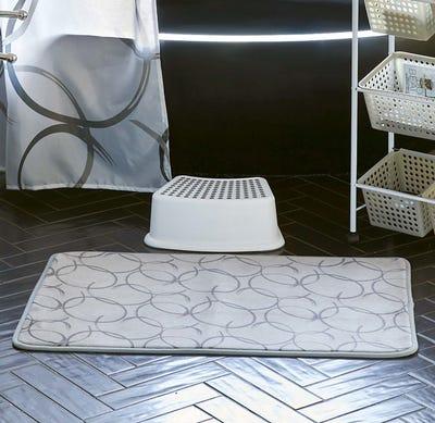 Badeteppich mit rutschhemmender Unterseite, ca. 60x90cm