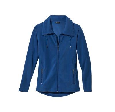 Damen-Fleecejacke mit 2 Reißverschluss-Taschen