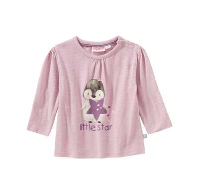 Baby-Mädchen-Shirt mit Pinguin-Frontaufdruck