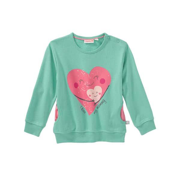 Baby-Mädchen-Sweatshirt mit Herz-Frontaufdruck
