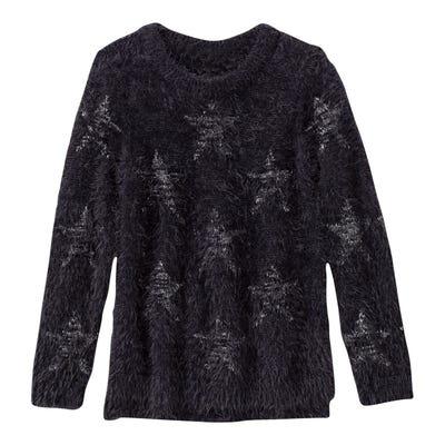 Mädchen-Pullover mit glitzerndem Sternenmuster