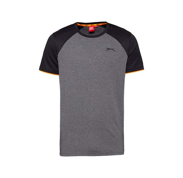 Slazenger Herren-Fitness-T-Shirt mit Kontrast-Ärmeln