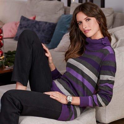 Damen-Pullover mit modernem Rollkragen