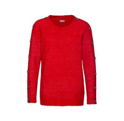 Damen-Pullover mit schicken Zierknöpfen