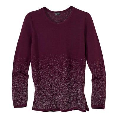 Damen-Pullover mit modischem Seitenschlitz