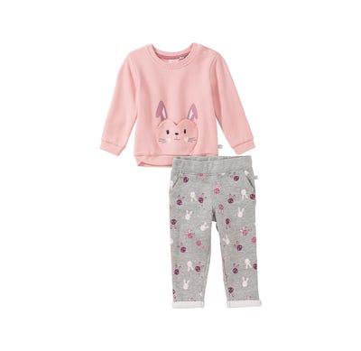 Baby-Mädchen-Set mit Häschen-Tasche, 2-teilig