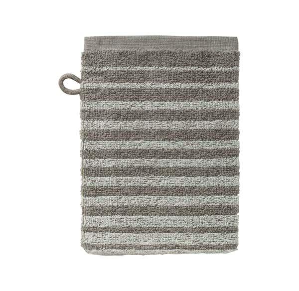 Waschhandschuh mit trendigen Streifen, 16x21cm