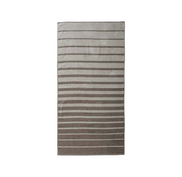 Duschtuch mit trendigen Streifen, 70x140cm