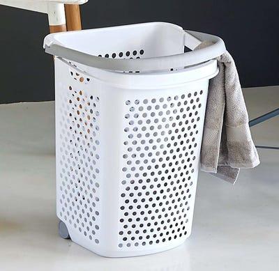 Wäschekorb mit Rollen, ca. 50x38x62cm