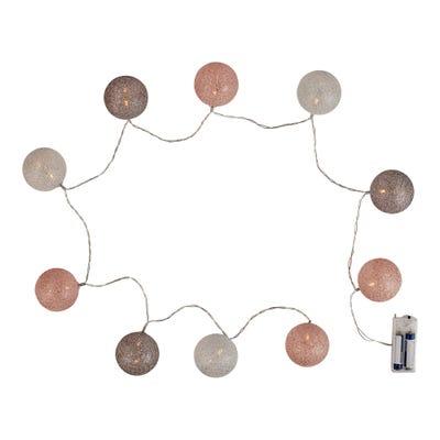 LED-Lichterkette  mit Glitzer-Kugeln, ca. 165cm
