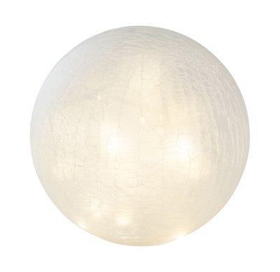 LED-Glaskugel in gebrochener Optik, Ø ca. 20cm