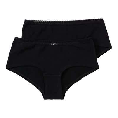 Damen-Panty mit Spitzen-Bund, 2er Pack