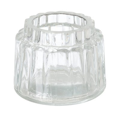 Teelichtglas in verschiedenen Farben, ca. 8x6cm