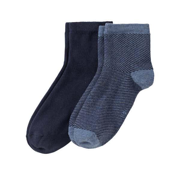 Damen-Socken mit Ringelmuster, 2er Pack