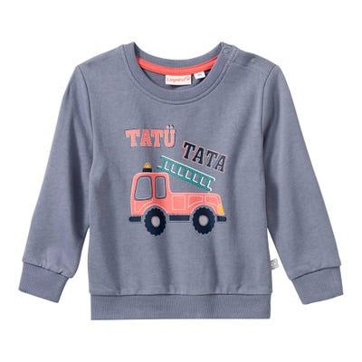 Baby-Jungen-Sweatshirt mit Feuerwehr-Frontaufdruck